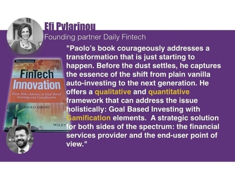 Fashionista Paolo Sironi speaks about Fintech Innovation in Investing!