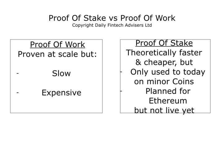 Proof Of Stake is more like financial bonds than Proof Of Work mining.001