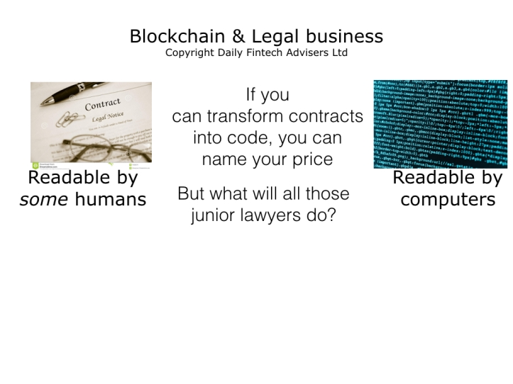 Blockchain Smart Contracts Will Decimate Entry Level Legal Jobs But Lead To A Near Term Boom For Tech Savvy Lawyers