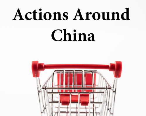Actions around China